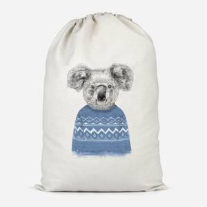 Koala And Jumper Cotton Storage Bag