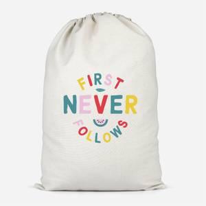 First Never Follows Cotton Storage Bag