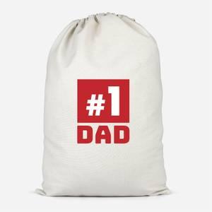 Number 1 Dad Cotton Storage Bag