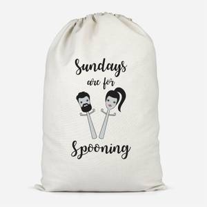 Sundays Are For Spooning Cotton Storage Bag