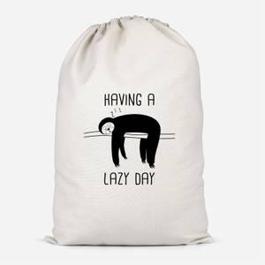 Having A Lazy Day Cotton Storage Bag