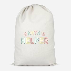 Santa's Helper Cotton Storage Bag