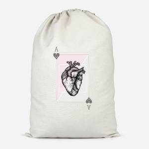 Ace Of Hearts Cotton Storage Bag