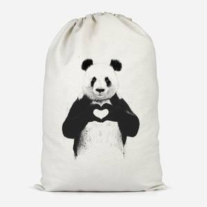 Panda Love Cotton Storage Bag