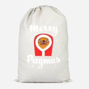Merry Pugmas Cotton Storage Bag