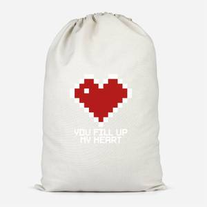 You Fill Up My Heart Cotton Storage Bag