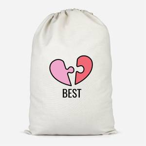 Jigsaw Heart Cotton Storage Bag