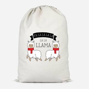 Fa La La La La La Llama Cotton Storage Bag