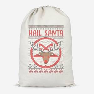 Hail Santa Cotton Storage Bag