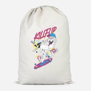 Kickflip Wolf Cotton Storage Bag