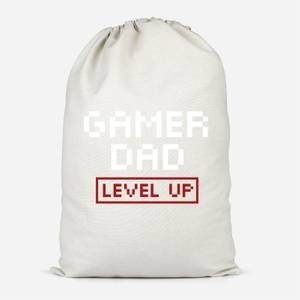 Gamer Dad Level Up Cotton Storage Bag