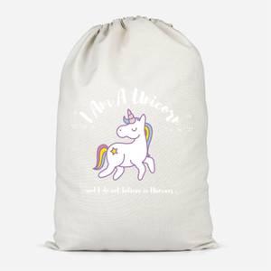 I Am A Unicorn Cotton Storage Bag