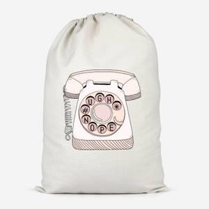 Phone Call Cotton Storage Bag