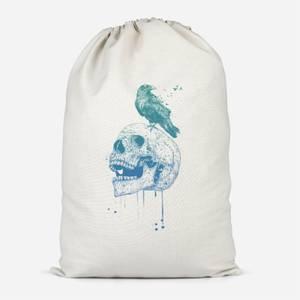 Skull And Crow Cotton Storage Bag