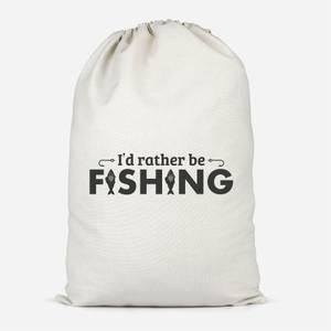 Id Rather Be Fishing Cotton Storage Bag