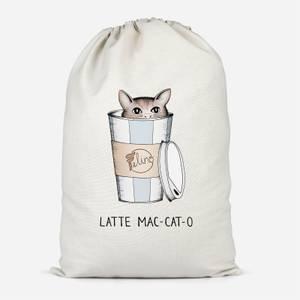 Latte Mac-Cat-O Cotton Storage Bag