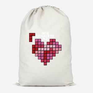 You Complete Me Cotton Storage Bag