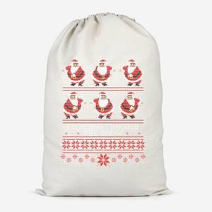 Flossing Through The Snow Cotton Storage Bag