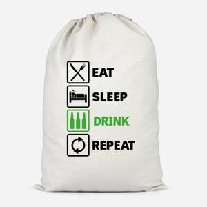 Eat Sleep Game Repeat Cotton Storage Bag
