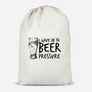 Beer Pressure Cotton Storage Bag