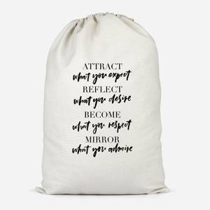 Attract What You Expect Cotton Storage Bag