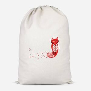 Flower Fox Cotton Storage Bag