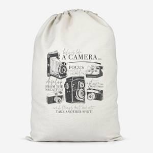 Life Is Like A Camera Cotton Storage Bag