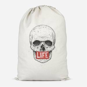 Life Skull Cotton Storage Bag