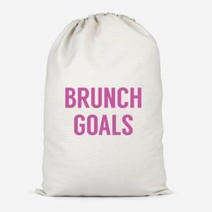 Brunch Goals Cotton Storage Bag