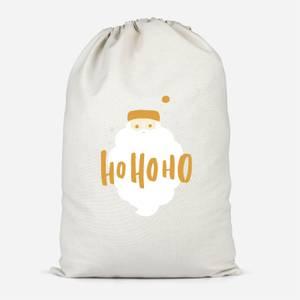 Christmas Santa Ho Ho Ho Cotton Storage Bag