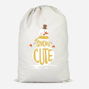 Christmas Snow Cute Snowman Cotton Storage Bag