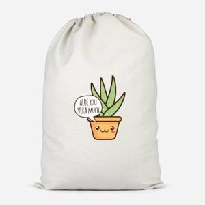 Aloe You Vera Much Cotton Storage Bag