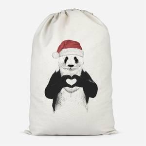 Santa Bear Cotton Storage Bag