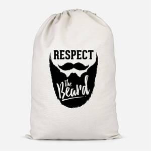 Respect The Beard Cotton Storage Bag