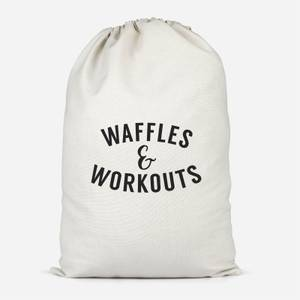Waffles And Workouts Cotton Storage Bag