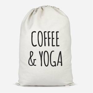 Coffee And Yoga Cotton Storage Bag