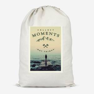 Collect Moments, Not Things A3 Print Cotton Storage Bag