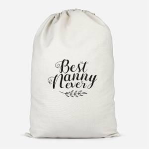 Best Nanny Ever Cotton Storage Bag