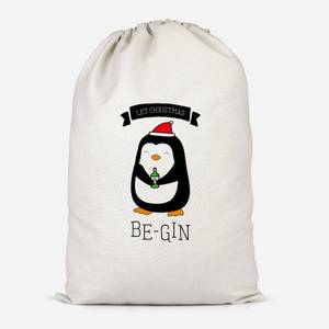 Let Christmas Be-Gin Cotton Storage Bag