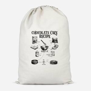 Chocolate Cake Recipe Cotton Storage Bag