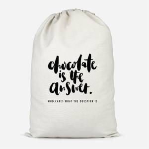 Chocolate Is The Answer Cotton Storage Bag