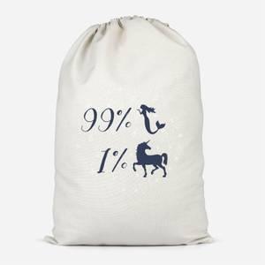 99% Mermaid 1 % Unicorn Cotton Storage Bag