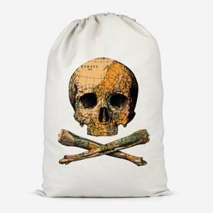 Treasure Map Cotton Storage Bag