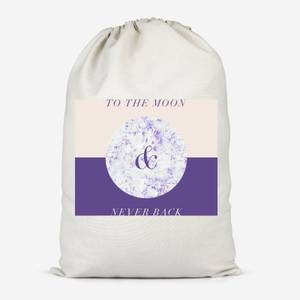 To The Moon & Never Back Cotton Storage Bag