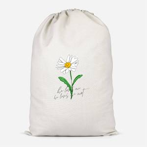 He Loves Me, He Loves Me Not Cotton Storage Bag