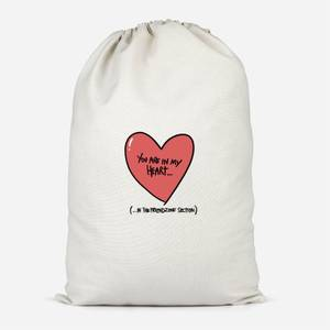 You Are In My Heart...In The Friendzone Cotton Storage Bag