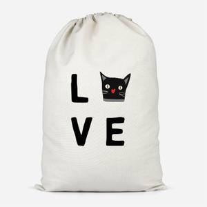Cat Love Cotton Storage Bag