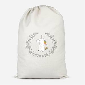 Unicorn Crest Cotton Storage Bag