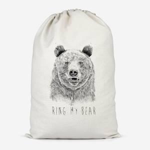 Ring My Bear Cotton Storage Bag