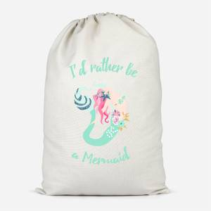 I'd Rather Be A Mermaid Cotton Storage Bag
